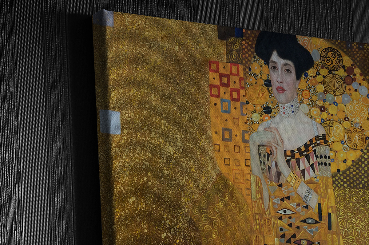 Gallery wrapped Klimt Painting