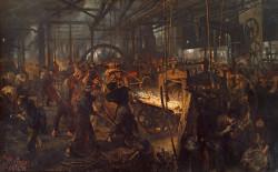 The Iron-Rolling Mill (Eisenwalzwerk) - Adolph Menzel