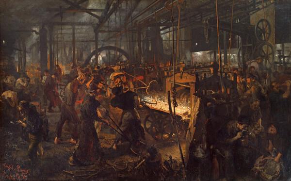 The Iron-Rolling Mill (Eisenwalzwerk) – Adolph Menzel