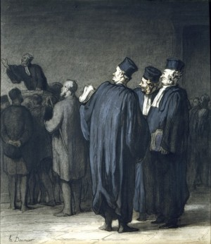 The Lawyers - Honore Daumier
