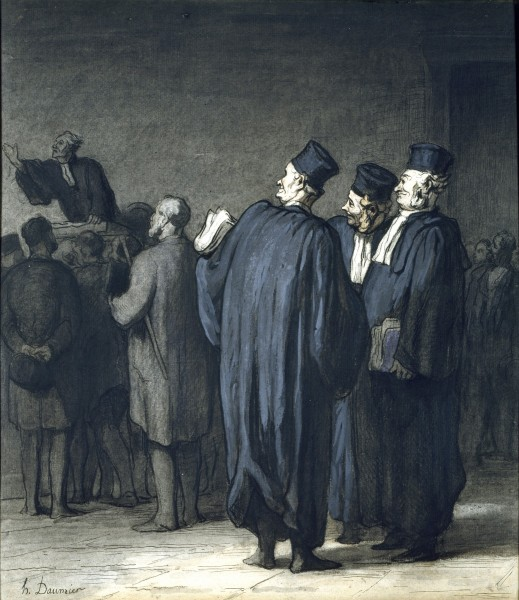 The Lawyers – Honore Daumier