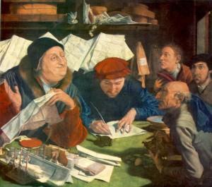 The Lawyer's Office - Marinus van Reymerswaele in