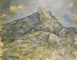 La Montagne Sainte-Victoire vue du bosquet du Château Noir - Paul Cézanne