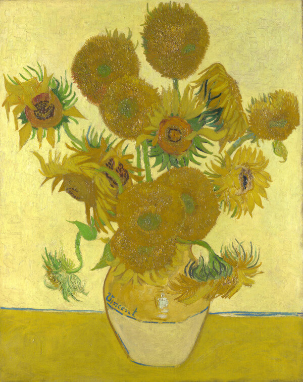 Vase with Fifteen Sunflowers – Vincent Van Gogh