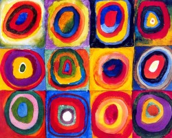 Squares with Concentric Rings - Wassily Kandinsky