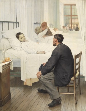 Visiting Day at the Hospital - Henry Jules Jean Geoffroy