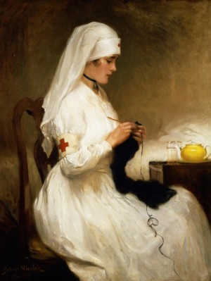 Portrait of a Nurse from the Red Cross - Gabriel Émile Édouard Nicolet