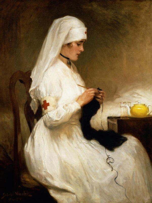 Portrait of a Nurse from the Red Cross – Gabriel Émile Édouard Nicolet