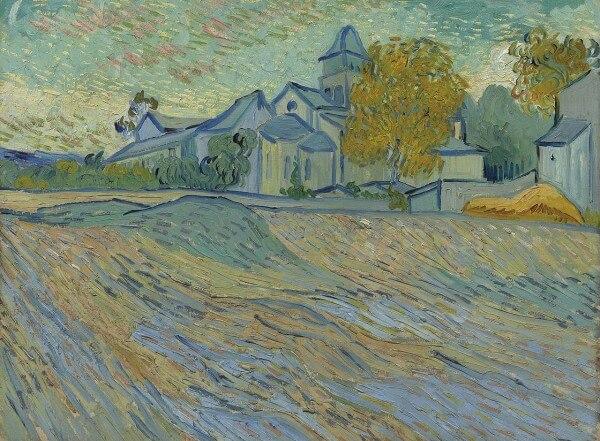 View of the Asylum and Chapel of Saint-Rémy – Vincent Van Gogh