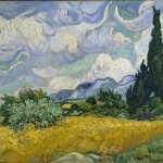 A Wheatfield with Cypresses - Vincent Van Gogh