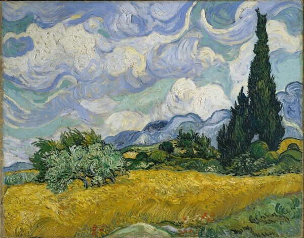 A Wheatfield with Cypresses – Vincent Van Gogh