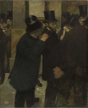 Portraits at the Stock Exchange - Edgar Degas