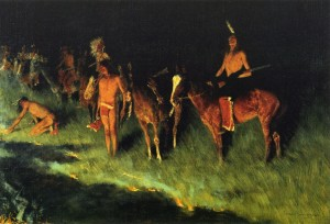 The Grass Fire - Frederick Remington