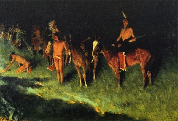 The Grass Fire – Frederick Remington