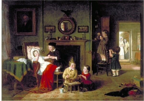 Children Playing at Doctors – Frederick Daniel Hardy