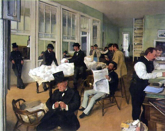 A Cotton Office in New Orleans – Edgar Degas