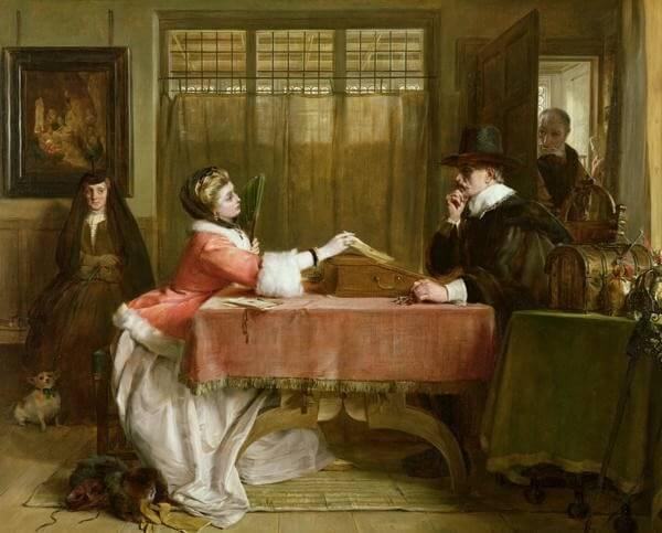 The Banker's Private Room Negotiating a Loan – John Callcott Horsley
