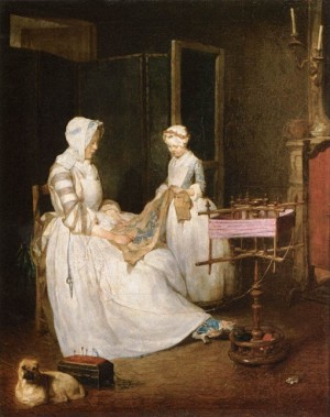The Hard-Working Mother - Jean Siméon Chardin