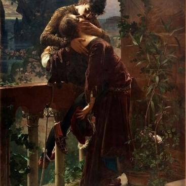 Romeo and Juliet on the Balcony - Julius Kronberg