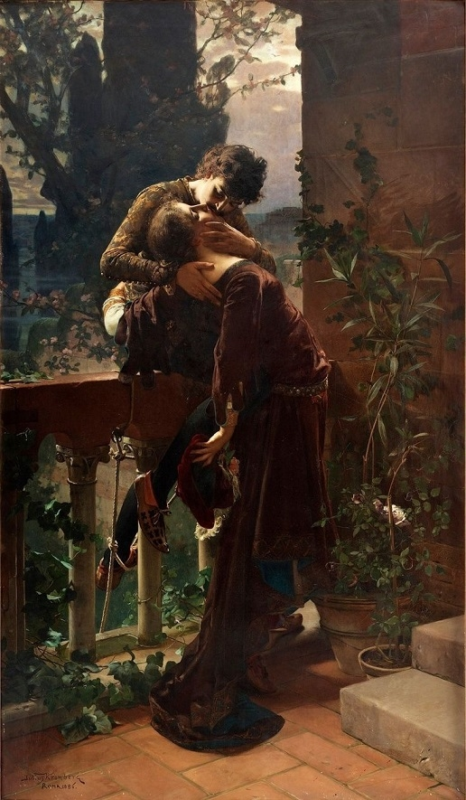 Romeo and Juliet on the Balcony – Julius Kronberg