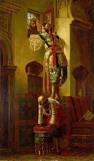 The Tryst (Interior) - Jean-Leon Gerome