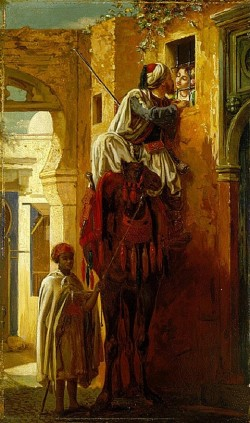 The Tryst (Exterior) - Jean-Leon Gerome
