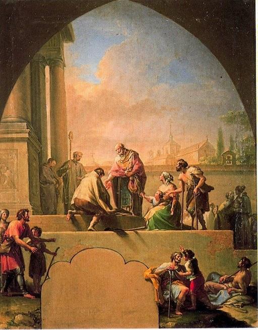 Charity of Saint Elladius of Toledo – Francisco Bayeu y Subias