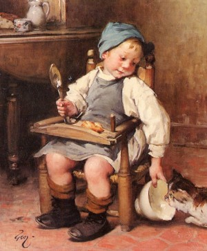 Sharing a Meal - Henry Jules Jean Geoffroy