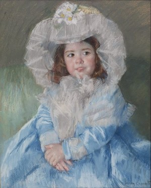 Margot (Lefebvre) in Blue - Mary Cassatt