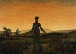 Woman before the Rising Sun - Caspar David Friedrich