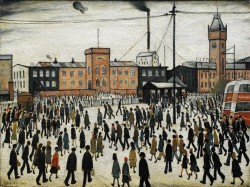 Going to Work - L.S. Lowry