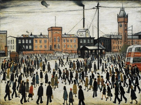 Going to Work – L.S. Lowry