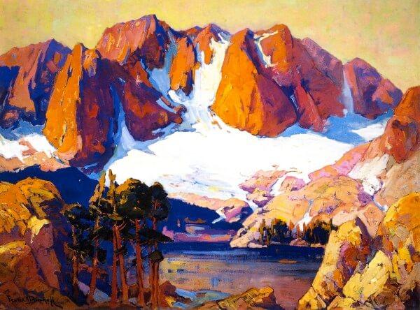 Alpenglow High Sierras – Franz Bischoff