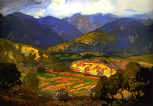 Clouds Drifting over the Mountains - Franz Bischoff