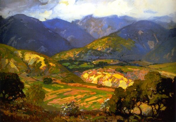 Clouds Drifting over the Mountains – Franz Bischoff