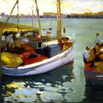 Fishing Boats L A Harbo - Franz Bischoff