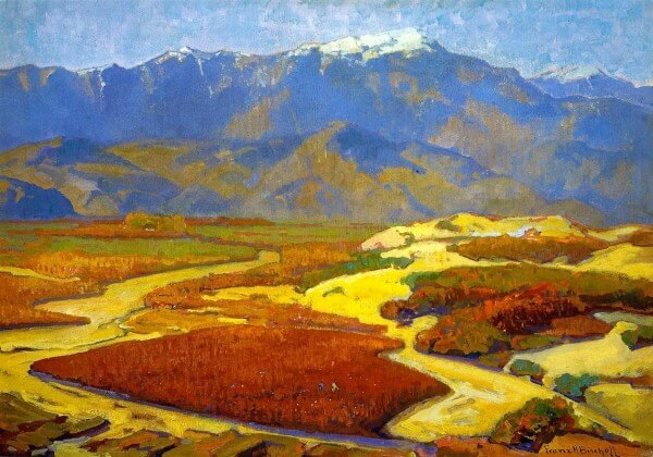 Cotton Fields and Desert River – Franz Bischoff