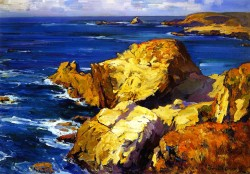 Rocks along the Coast - Franz Bischoff