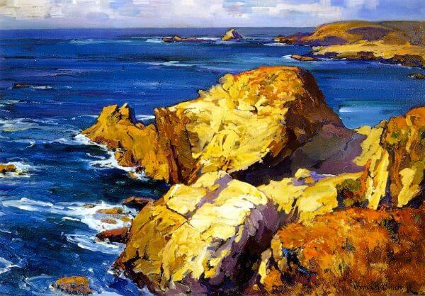 Rocks along the Coast – Franz Bischoff