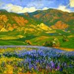 San Fernando Valley Lupines - Franz Bischoff