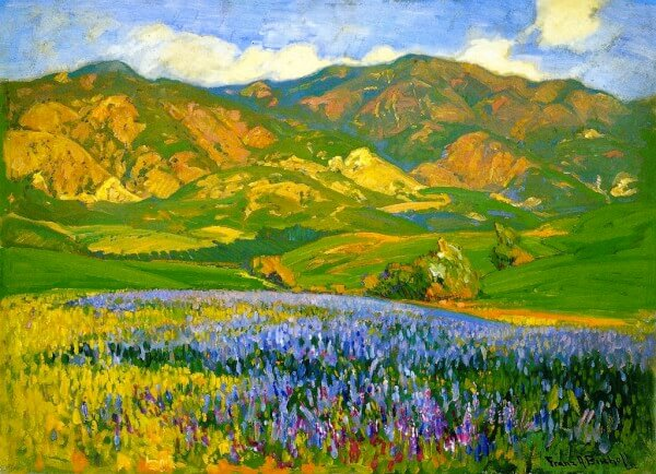 San Fernando Valley Lupines – Franz Bischoff