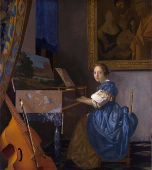 A Lady Seated at a Virginal - Johannes Vermeer