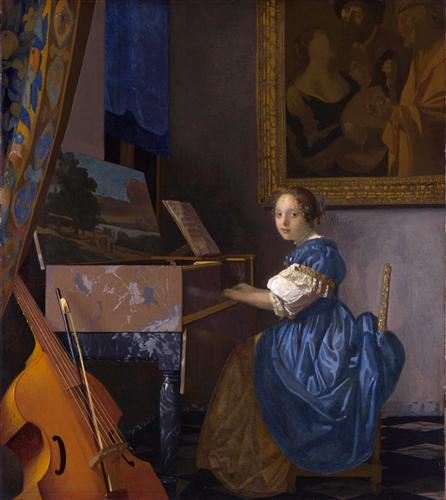 A Lady Seated at a Virginal – Johannes Vermeer