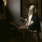 Woman Holding a Balance - Johannes Vermeer