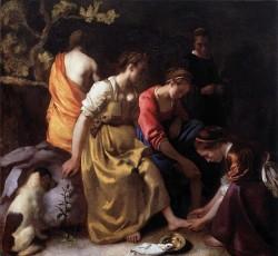 Diana and Her Companions - Johannes Vermeer