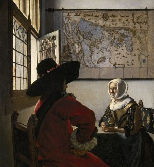 Officer and Laughing Girl - Johannes Vermeer