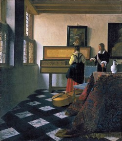 The Music Lesson - Johannes Vermeer
