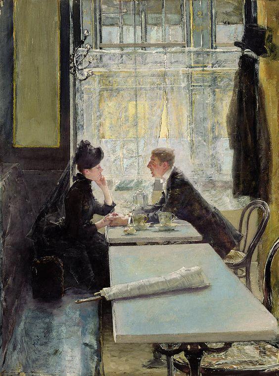 Lovers in a Cafe – Gotthardt Johann Kuehl