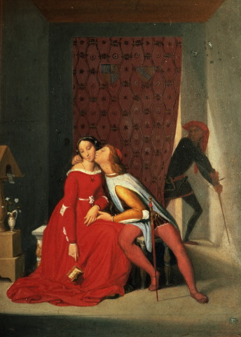 Gianciotto Discovers Paolo and Francesca – Jean Auguste Dominique Ingres