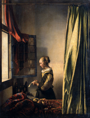 Girl Reading a Letter by an Open Window - Johannes Vermeer